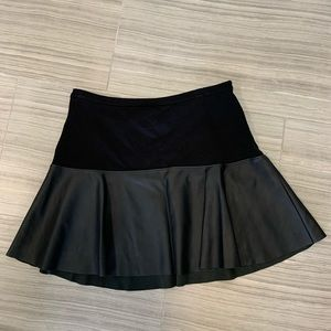 Express Leather and Cotton Skirt
